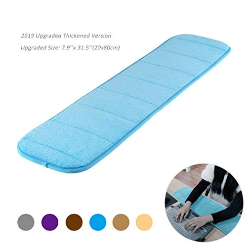 Aufgerüstet Handballenauflage ergonomisch zur Entlastung des Handgelenks Pad, Creatiees Verbessert Computer Handgelenk Ellbogen Pad für Tastatur und Maus - Entlastung des Handgelenks Pad (Blau)