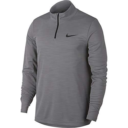 Nike Men's Superset 1/4 Zip Long Sleeve Training Top Gunsmoke/Black Size Large