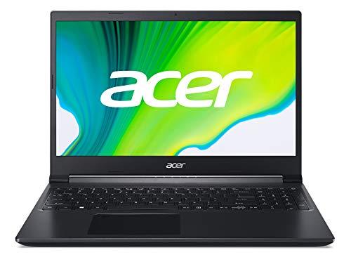 Acer Aspire 7 (A715-41G-R5YE) 39,6 cm (15,6 Zoll Full-HD IPS matt) Multimedia/Gaming Laptop (AMD Ryzen 5 3550H, 8 GB RAM, 512 GB PCIe SSD, NVIDIA GeForce GTX 1650, Win 10 Home) schwarz