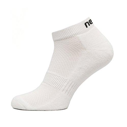 Chaussettes de Sport St Short Chaussettes de Course Sneakers Chaussettes de Course – Vélo – 100% Thermique Active, Homme Enfant Femme, White - White