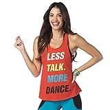 Zumba Fitness® Dance Atlético Estampado Fitness Camiseta Mujer Sueltas de Entrenamiento Top Deportivo Loose Tank, Really Red-y 1, S