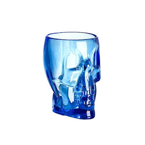 ZZL Jarra Cerveza Taza de Cerveza Cráneo Bebiendo Tazas De Jugo Creativo Tazas de Acrílico Estilo Divertido para la Fiesta de la Barra KTV Regalo de Cerveza (Color : Blue2)