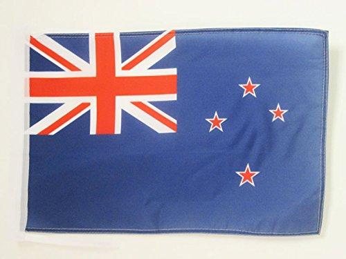 AZ FLAG Flagge NEUSEELAND 45x30cm mit Kordel - NEUSEELÄNDISCHE Fahne 30 x 45 cm - flaggen Top Qualität