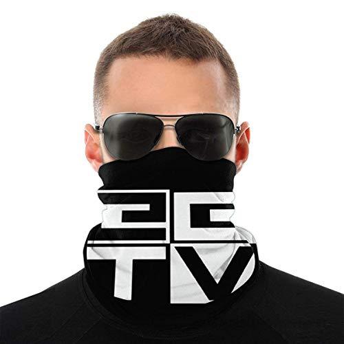 Lsjuee Eg Tv Unisex Multifuncional Bandana sin costuras Mascarilla para el cuello Polaina para la cabeza de tubo Bufanda blanca