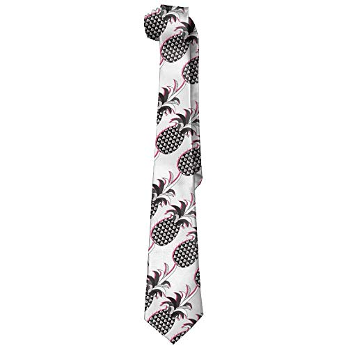 LREFON Corbata de hombre Corbata con estampado de piña abstracta Regalos