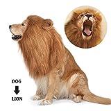 Dog Lion Mane,Funny Dog Costume,Adjustable Lion Mane for Dog...