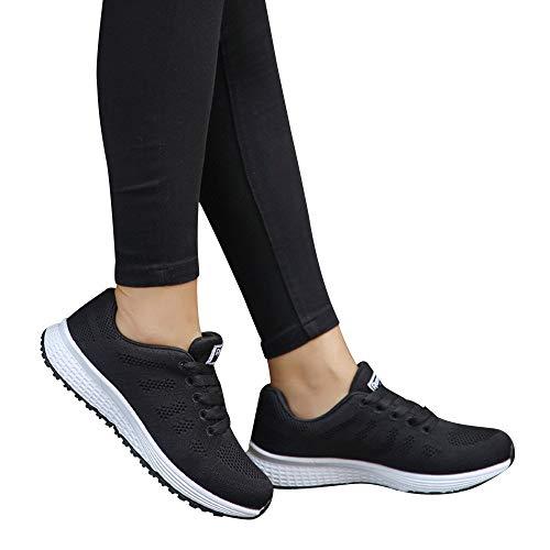 Fannyfuny Zapatos Zapatillas Deportivas Deporte Mujer Zapatillas Correr Gimnasio Casual Zapatos para Caminar Transpirable Aumentar Mas Altos Sneakers 36-40
