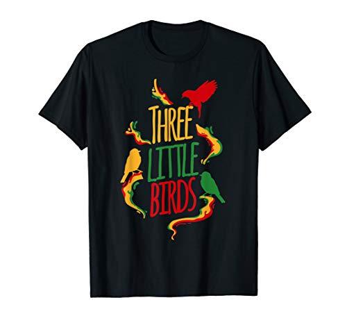 Reggae Music Three Little Birds Rasta Reggae Fan T-Shirt
