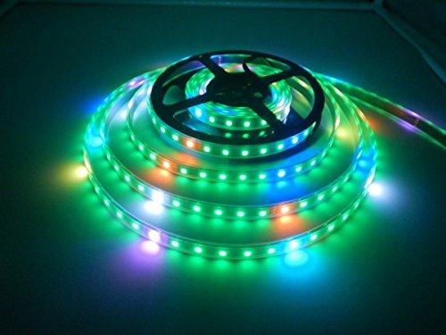 WS2812B LED Streifen Licht, Traumfarbe 16.4FT WS2812B 300 Pixels 5050 SMD Individuell Adressierbar LED Band Lichter, RGB Streifen Licht DC 5V Wasserdicht (Schwarz PCB)