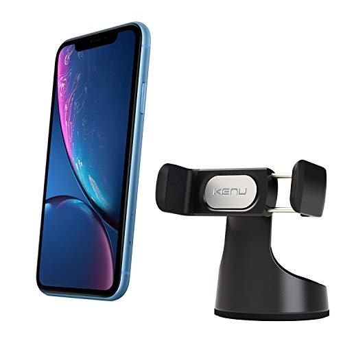 Kenu Airbase Pro, supporto a ventosa per smartphone (perno di 360 gradi) (adatto a tutti gli smartphone), supporto universale per parabrezza o cruscotto, colore: nero