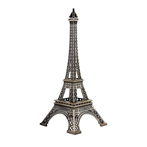 Delaman Torre Eiffel de Torre Eiffel Alta de Bronce París Francia Réplica de la Vendimia para la decoración del hogar de la Fiesta de Regalos Topper de la Torta (25CM)