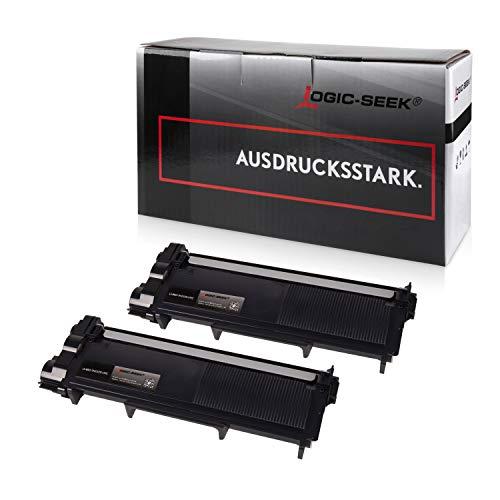 Logic-Seek 2 Toner kompatibel für Brother TN-2320 XXL HL-L2340DW HL-L2360DN DCP-2500 2520 2540 2560 2700 Series D DW DN HL-2300 2320 2365 2380 Series D DW DN MFC-2700 2703 2720 2740 Series DW CW