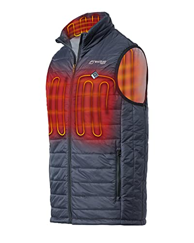 Venture Heat Men's Heated Vest with Battery Pack - 13 Watt High Powered Electric Insulated Puffer, Roam (L, Black)