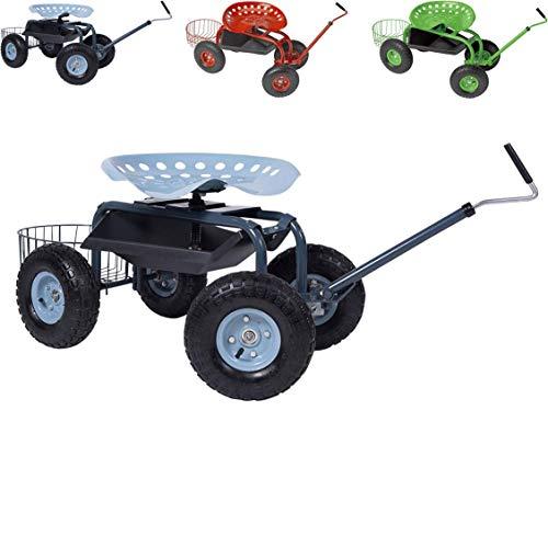 Papilioshop Gardy Gartenhocker Rollwagen Sitzhocker für Gemüsegarten (Blau)
