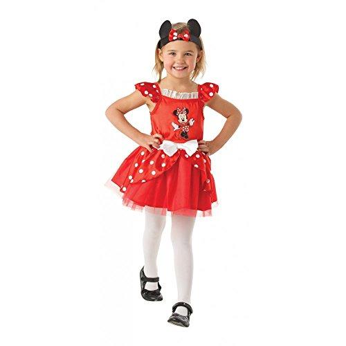 Rubies Minnie Mouse Rouge Ballerina - Disney - Enfants Costume de déguisement - Medium - 116cm