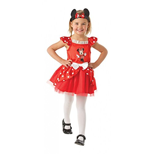 Rubies Minnie Mouse Rouge Ballerina - Disney - Enfants Costume de déguisement - Medium - 116cm