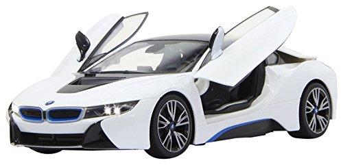 Jamara - BMW I8 Coche, Scala 1:14, Blanco (405026)