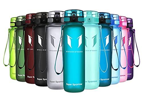 Super Sparrow Bouteille d'eau - Gourde - sans BPA - Convient pour Le Sport, la randonnée, l'école, Le Bureau, en Plein air, 350ml-12oz