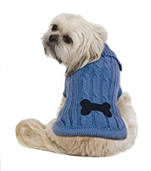 image of Bone Patch Cable Dog Sweater