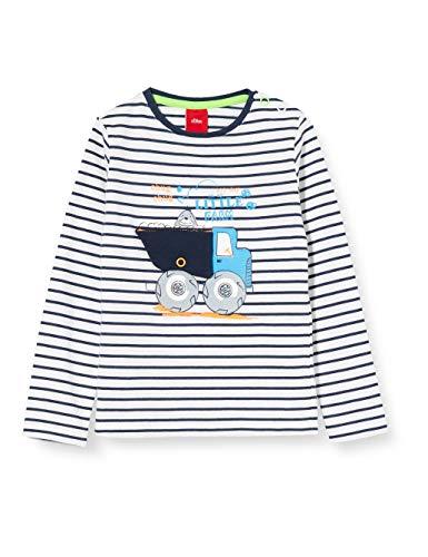 s.Oliver Junior 405.10.004.12.130.2019592 T-Shirt, Baby - Jungen, Blau 74 EU