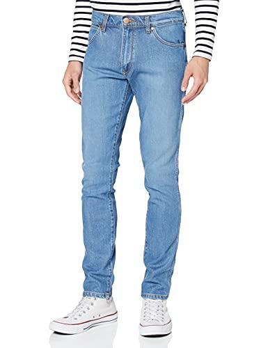 Wrangler Larston Slim Jeans, Blu (Spaced out 324), 27W / 32L Uomo