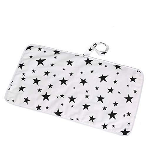 Pañal portátil para bebé Protector de colchón impermeable Colchoneta Pañal de algodón para cambiar el piso Juego Mat Fasciatoio Portatile Pads