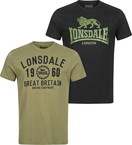 Lonsdale Bangor T-Shirt Black/Olive XXL