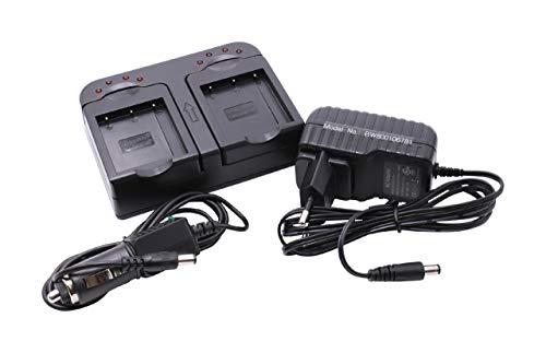 vhbw Dual Akku Ladegerät Ladeschale passend für Casio Exilim EX-ZR700, EX-ZR710 Digitalkamera- Camcorder- DSLR- Action Cam-Akku