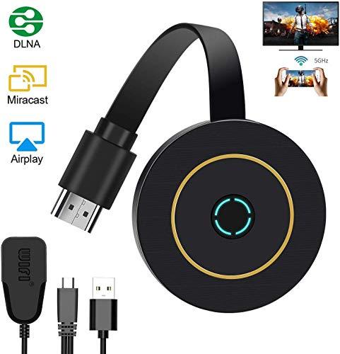 Receptor inalámbrico de Pantalla WiFi, Mini Pantalla compartida, 1080HD, Adaptador de Pantalla (Black)