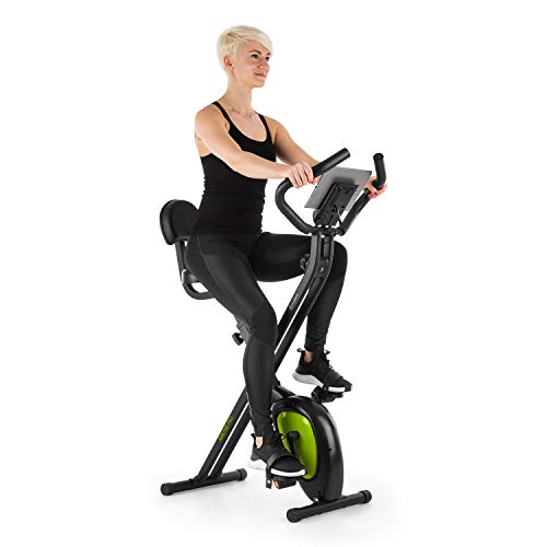 KLAR FIT Klarfit X-BIKE-700 2.0 Ergomètre Home-Trainer - Vélo Fitness Cardio, Ordinateur d'entraînement, Pulsomètre intégré, 8 Niveaux de résistance réglables, Noir-Vert