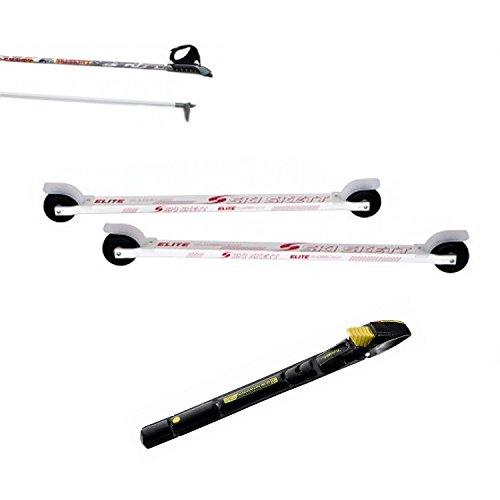 Ski Skett Série Ski Roue, Ski Roue Elite Classic ALU, Fixations Salomon Profil CL, bâtons pour Ski Roue Long. 165 cm.