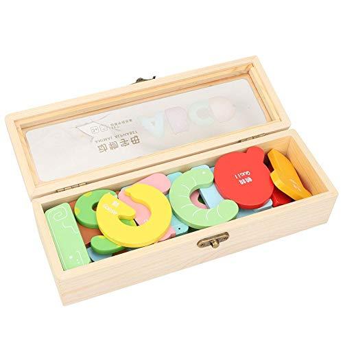 Bloque de construcción de letras, juguete de letras inglés resistente a la corrosión de alta calidad resistente al desgaste, para niños bebé