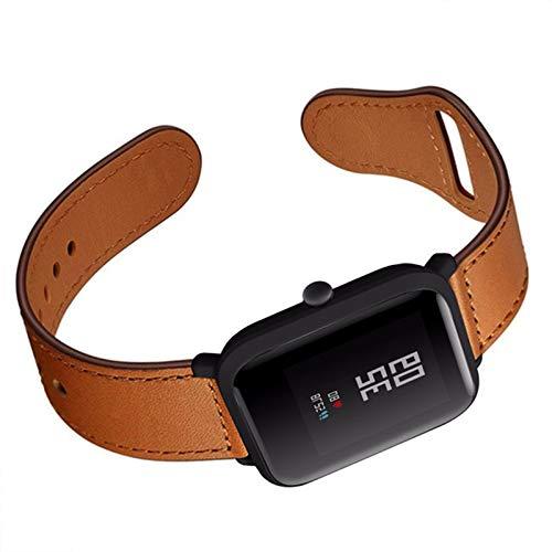 Fhony Correa de Cuero Compatible with Apple Watch 38mm 40mm 42mm 44mm Diseño de Cuero Genuino Correa de Repuesto para Mujeres & Hombres for Iwatch Series Se/6/5/4/3/2/1,Marrón,38/40mm