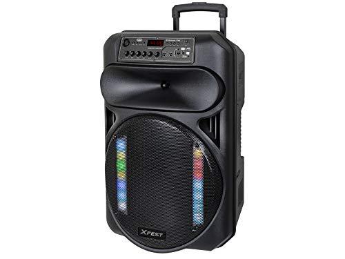 Trevi XFEST XF 1550 KB Altoparlante Amplificato Portatile con Mp3, USB, MicroSD, AUX-IN, Bluetooth, Funzione TWS, Batteria Integrata, Karaoke Party Speaker con Microfoni Wireless in Dotazione