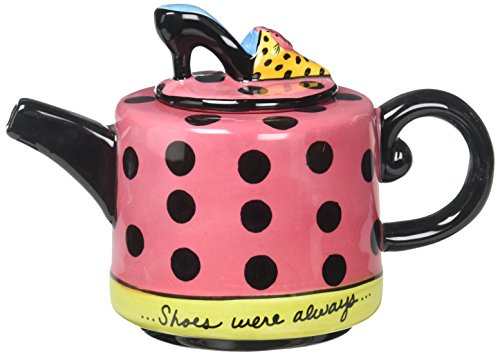 Appletree Design Shoes On Her Mind Teapot, 4-1/8-Inch