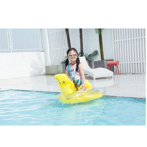 Baby Schwimmring Katze Schwein Bär Aufblasbarer Kreis Pool Party Spielzeug Kinder Baby Schwimmsitz Schwimmbad für Kinder Gelbe Ente 80x70cm