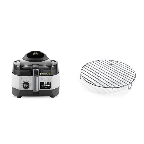 De Longhi FH1394 2 Multicooker e Friggitrice, colore Argento Nero & DLSK104 D.240X33 Griglia in Acciaio Inox