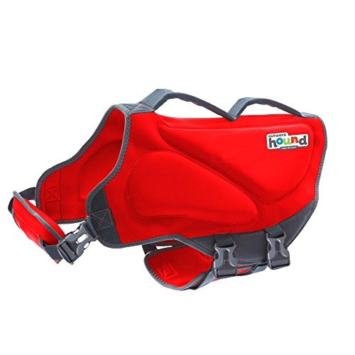 Outward Hound Dawson Dog Life Jacket, X-Small, Red