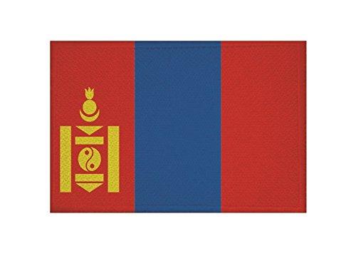 U24 Aufnäher Mongolei Fahne Flagge Aufbügler Patch 9 x 6 cm