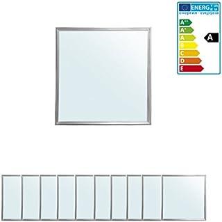 ECD Germany 10 x Panneau LED 36W - 60 x 60 cm - Ultraslim mince - SMD 3014 - Blanc froid 4000K - 220-240 V - Environ 3350 ...
