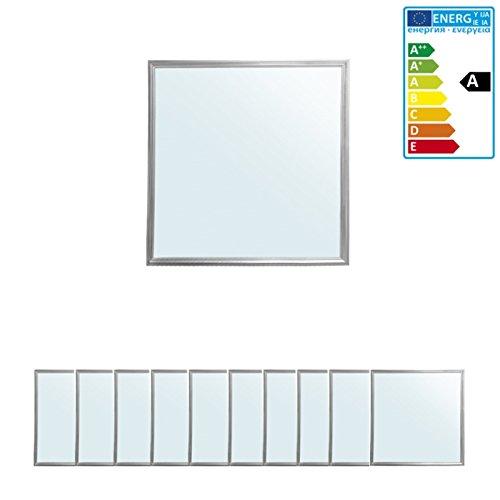 ECD Germany 10 x Panneau LED 36W - 60 x 60 cm - Ultraslim mince - SMD 3014 - Blanc froid 4000K - 220-240 V - Environ 3350 lumens - Plafonnier encastré