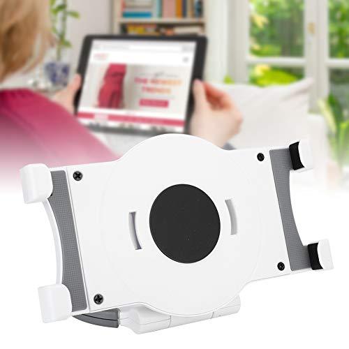 """Suporte universal para tablet, alça giratória de 360° de 7"""" a 10"""" suporte para tablet com suporte para PC (branco)"""