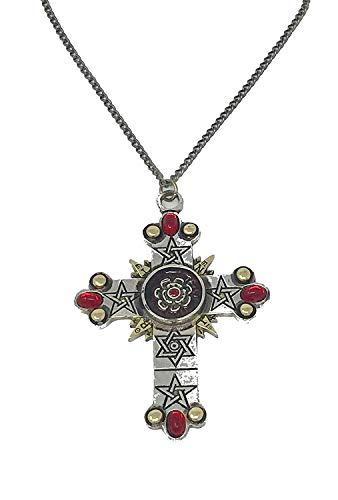 Das Rosenkreuz - Höhere Magie - Talisman Anhänger Halskette - verboten Charms Collection