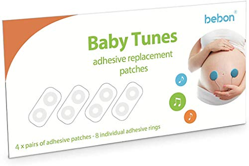Replacement Adhesives for Baby-Bump Headphones - Baby Tunes Baby Bump Speaker (4-Pairs Adhesives)