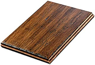 Cali Bamboo - Solid Wide T&G Bamboo Flooring, Medium Antique Java Brown, Aged - Sample Size 8