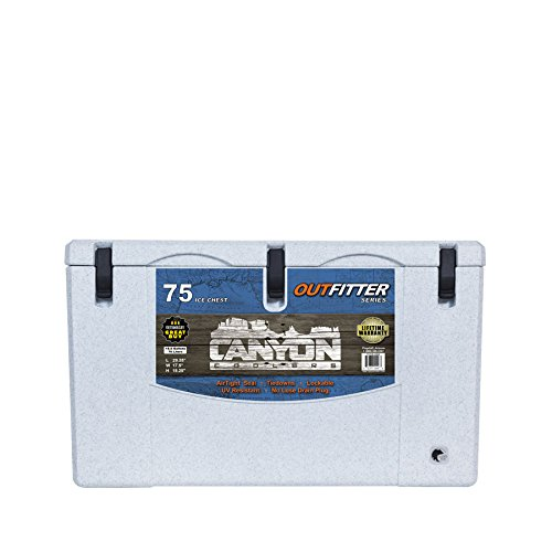 CANYON COOLERS Outfitter 75 Rotomolded Cooler-White Marble