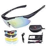 SH-Flying Gafas polarizadas, Lentes Anti-Ultravioleta con Vista Corta y Gafas de protección para Gafas 5PCS Lentes para Hombres Mujeres Senderismo Ciclismo Correr Conducir Pesca Golf