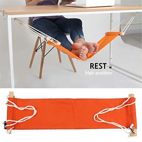 Sunrise-EU Voethangmat met staven van echt hout, om onder de tafel te hangen