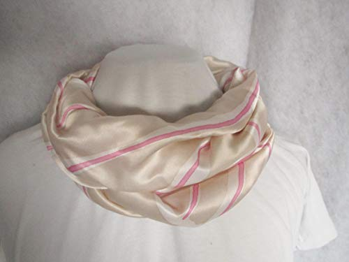 Loop, Seidenschal, reine Seide,beige rosa, weiß