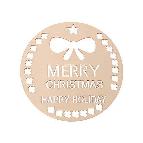 jumpeasy 3 stks/partij geschenken partij benodigdheden sneeuwvlokken huis decoraties kerstboom opknoping natuurlijke hangers DIY Houten Chip kerstversieringen